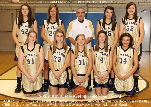 2012 girls jrhi 8th team